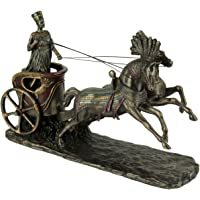 Veronese Design Nefertiti Egyptian Queen Driving Horse Drawn Chariot Statue