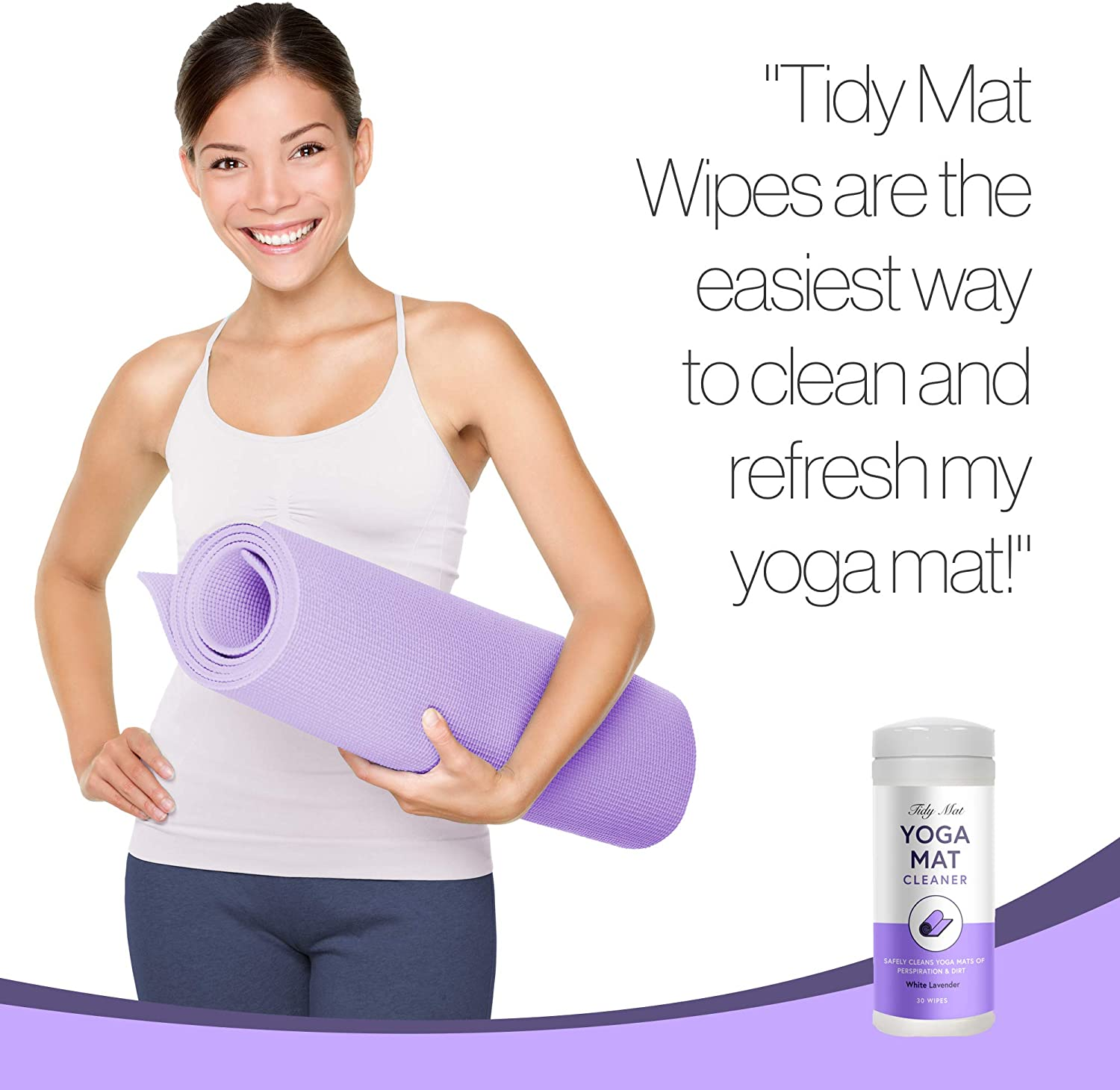 Amazon.com: Giant Lion Tidy Mat Yoga Mat Cleaner Wipes ...