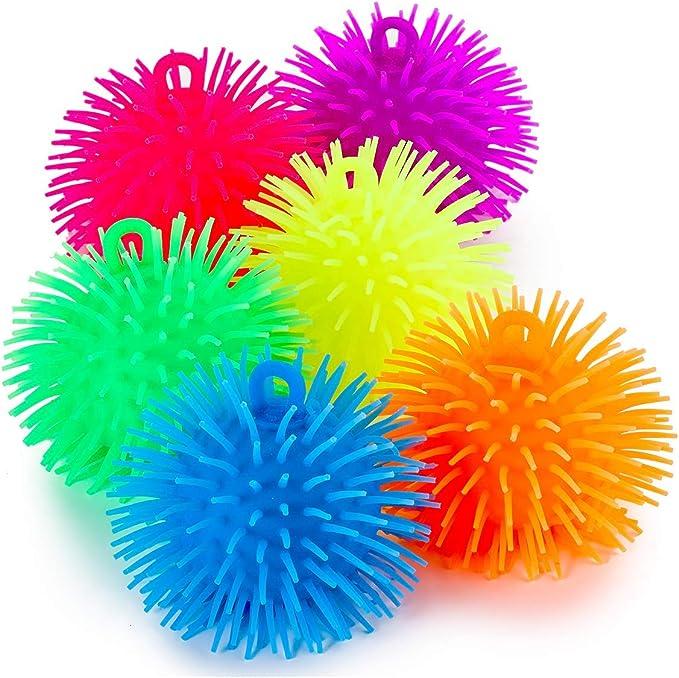 5 Inches Set of 6 Pcs Puffer Balls Random Color