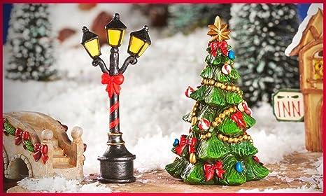 Mini Christmas Village Display.Amazon Com Fairy Garden Miniature Victorian Village