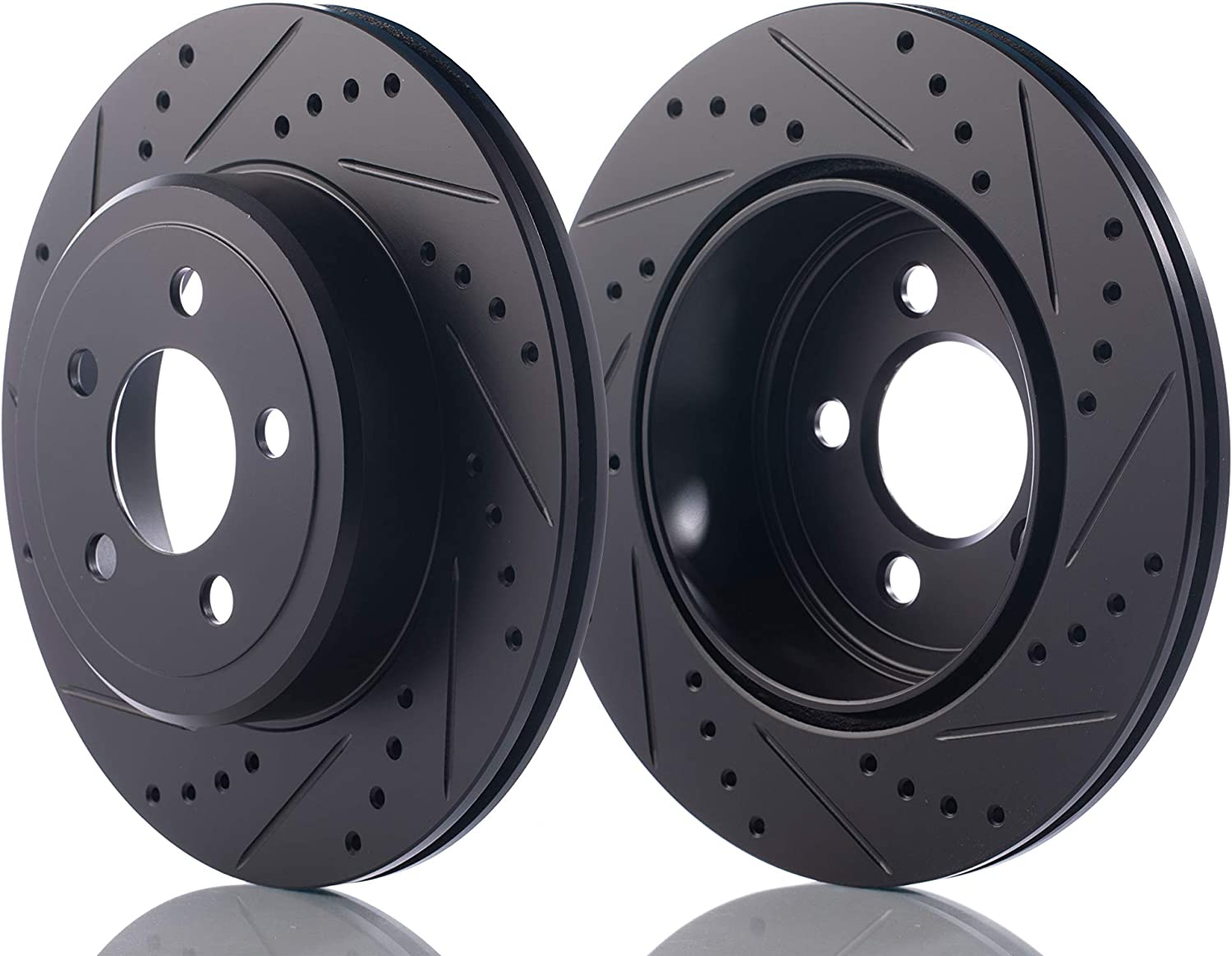 I35 2002-2004 Maxima 1994-2003 Perfit Liner Rear Drilled and Slotted Pair Disc Brake Rotor Compatible With INFINITI//NISSAN I30 1996-2001