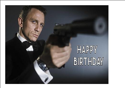 James Bond 007 Daniel Craig 10 X 8 Personalised Cake Topper On