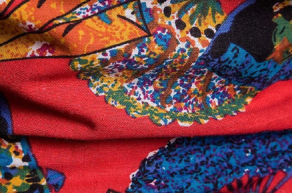 M/&S/&W Men Long Sleeve Printing Flowers Button Down Dress Shirt