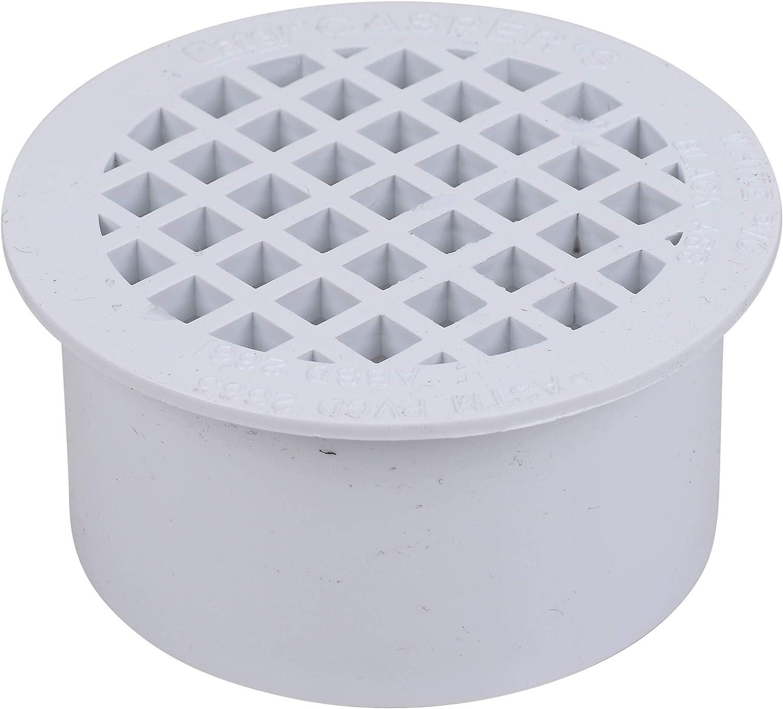 Oatey 43565 PVC Snap-In Drain, 3-Inch, White