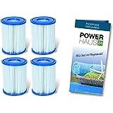 Bestway 58094Cartouche de filtre Grand II, 2x double pack (4cartouches) avec soin Power haus24fibel.–Convient aussi pour Intex® & # x200e;