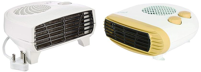 Orpat OEH-1220 2000-Watt Fan Heater (White) & OEH-1260 2000-Watt Fan Heater (Apricot) Combo