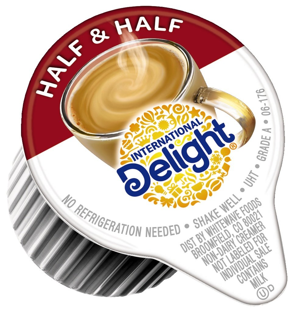 International Delight, Coffee House Inspirations Half and Half, Single-Serve Coffee Creamers, Shelf Stable, Great for Home Use, Offices, Parties or Group Events, 384 Counts