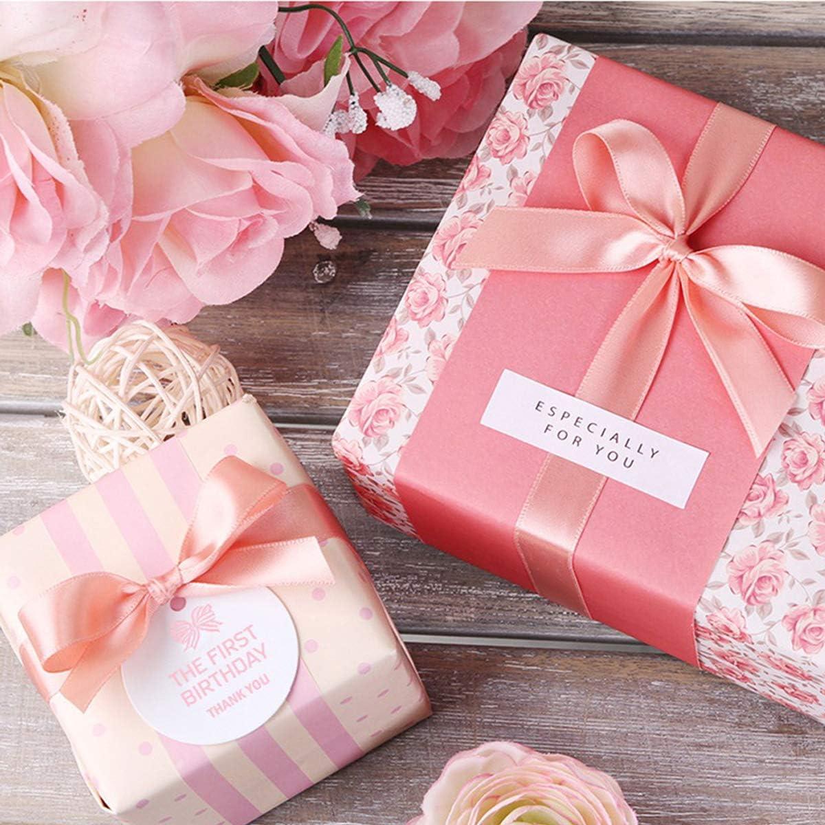 d/écoration Rouleau de ruban de satin rose pour travaux manuels largeur denviron 2,5 cm emballage cadeau n/œuds