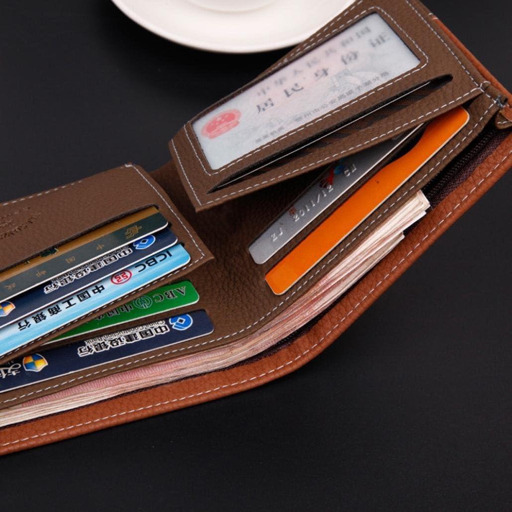 9.6cm Internet Carte Bifold titulaire portefeuille porte-monnaie en cuir de hommes 11.6cm 2.2cm