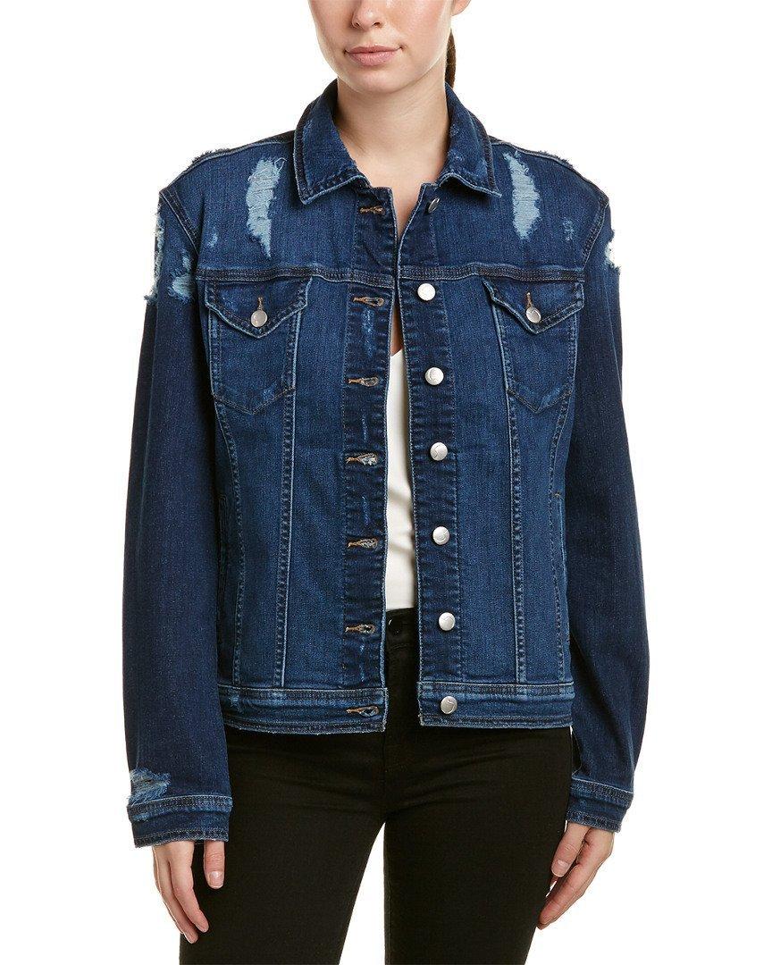 Joe's Jeans Womens The Boyfriend Jacket, M, Blue