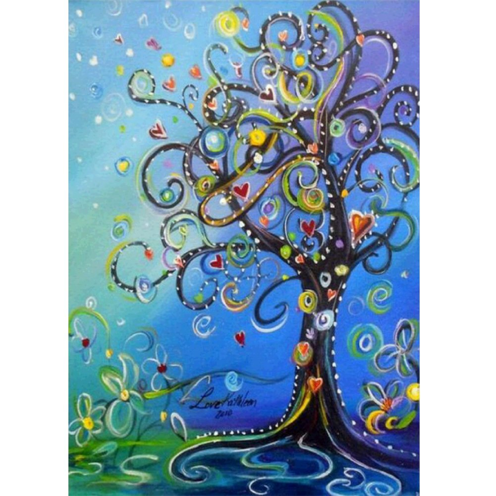 MXJSUA DIY 5D Diamond Painting by Number Kits Full Drill Rhinestone Embroidery Cross Stitch Pictures Arts Craft for Home Wall Decor,Money Tree 12x16in 4336933158