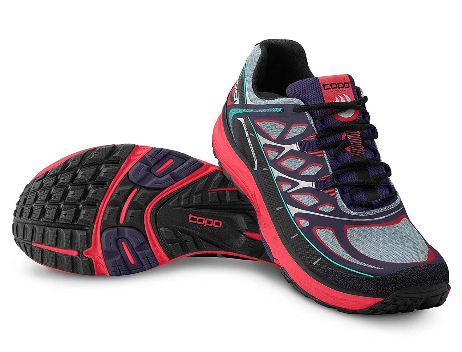 Topo Athletic MT2 Running Shoe - Men's B06XGYN619 10 B(M) US|Indigo/Fuchsia