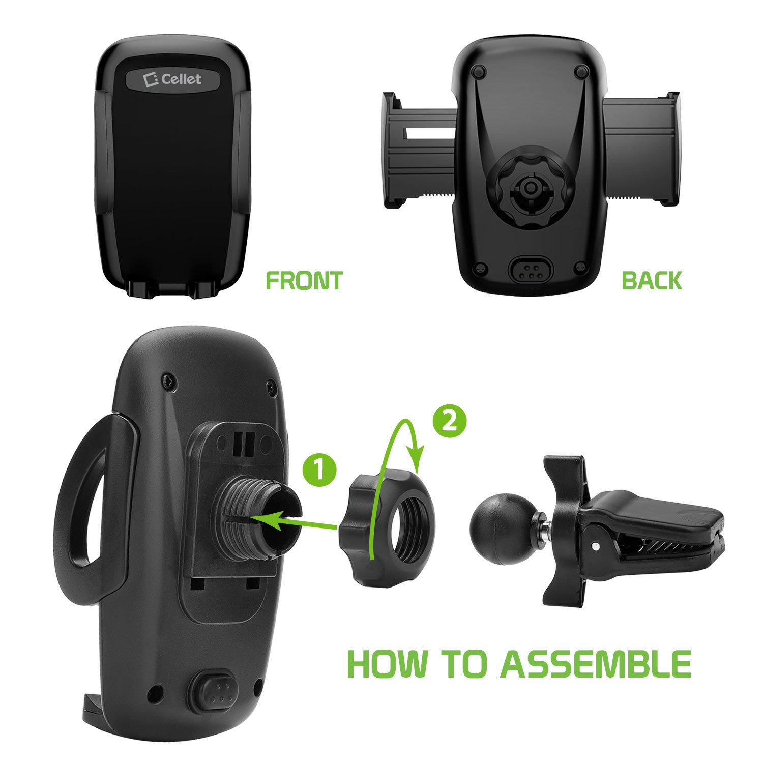 Galaxy S9//S8//S7//S6 LG Huawei Motorola and More PHVENTE4FA Cellet Car Phone Mount,Air Vent Phone Holder Car Adjustable Car Phone Holder compatible for iPhone Xs//Xs max//Xr//X//8//8Plus//7//7Plus Note 9//8//5