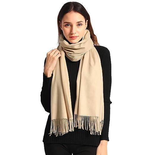 d9aedcba940 Pashmina Scarf Women Soft Cashmere Scarves Stylish Large Warm Blanket Solid  Winter Shawl Elegant Wrap 78.5