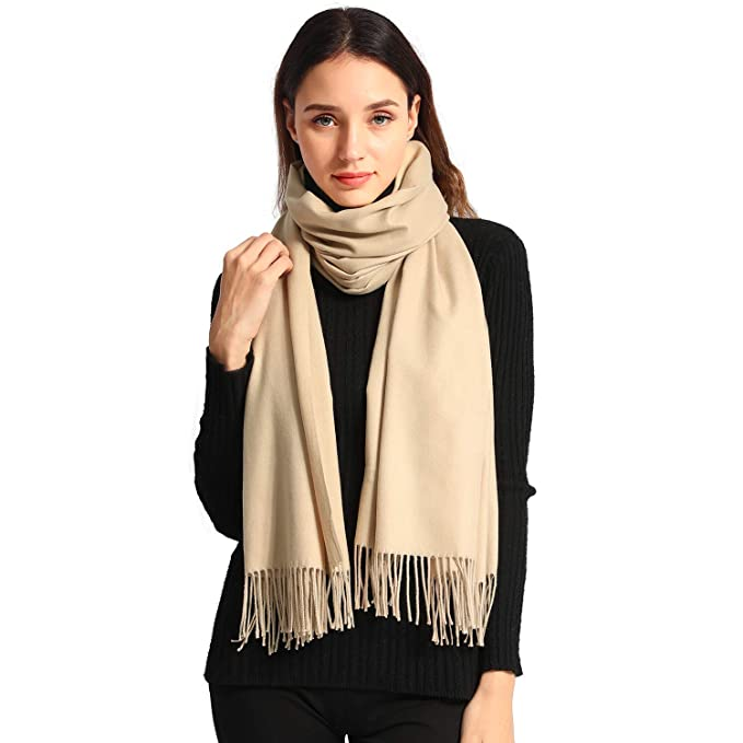 c899b9cfc Women Soft Pashmina Scarf Large Cashmere Scarves Stylish Warm Blanket Solid  Winter Shawl Elegant Wrap 78.5""