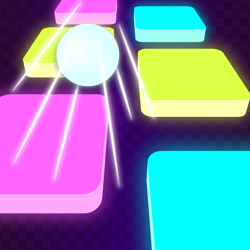 Tiles Neon - Hop Hop Bouncing Ball Rush: Free Games