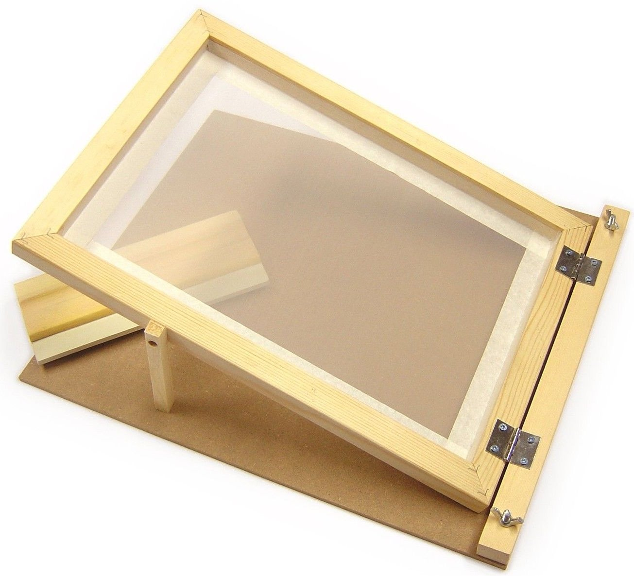 mit Scharnieren aus Holz Rakel Major Brushes A3-Siebdruck-Starter-Set