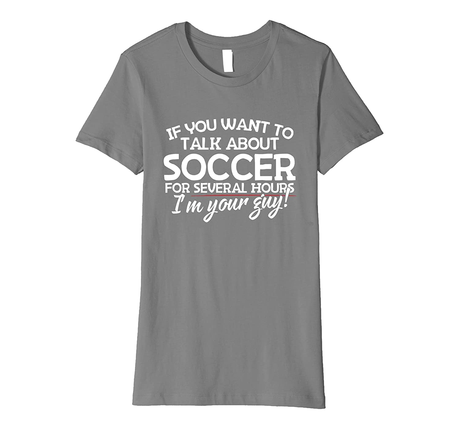 Premium T-shirt for Soccer Lovers Players and Coaches
