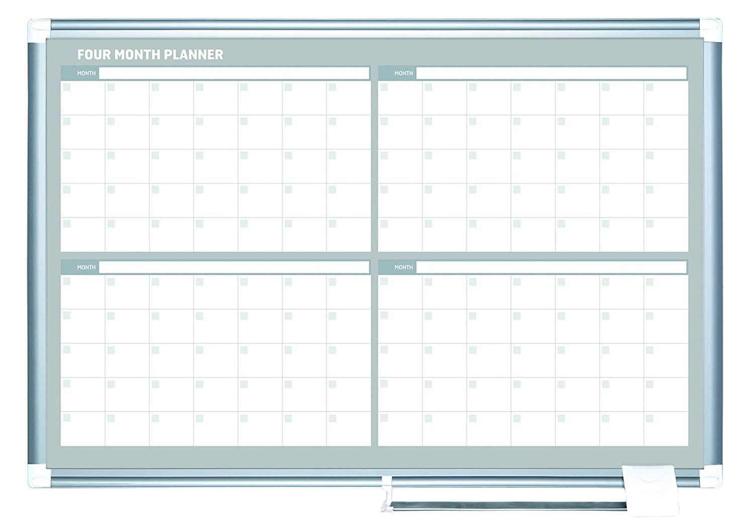Amazon.com : MasterVision Planning Board Magnetic Dry Erase 4 Month ...