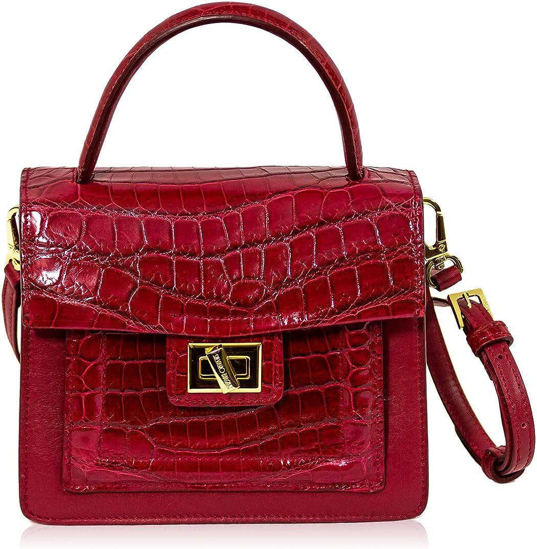 Silvano Biagini Women S Small Handbag Italian Designer Purse Real Crocodile Leather Top Handle Crossbody Box Bag In Garnet Red Design Amazon Co Uk Shoes Bags,Modern Exhibition Stand Design