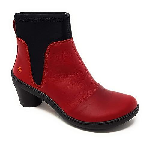 Amazon Y Art Talla Mujer es 40 Company Botines Complementos 1443 Zapatos Rojo rXUrvF0