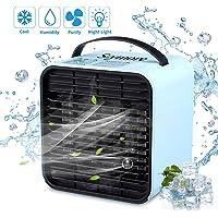 Skymore Mini Luftkühler, Mobile Klimageräte Mini klimaanlage Ventilator Air Cooler mit USB, Raumluftkühler
