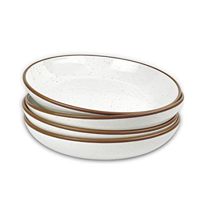 Mora Ceramic Small Dessert Bowls Cereal Chili Microwavable Kitchen Bowl Ice Cream Oven and Dishwasher Safe Vanilla White Side Dishes etc For Rice Microwave Snacks Soup Set of 6 16oz