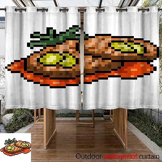 Cortina de Exterior para Patio Vector Pixel Art con Dibujos ...