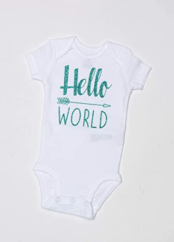 0b1ee374 Hello World Bodysuit - Baby Bodysuit - Bodysuit - Hello World - Coming Home  Outfit - baby girl bodysuit - baby shower gift - baby bodysuit - come home  ...