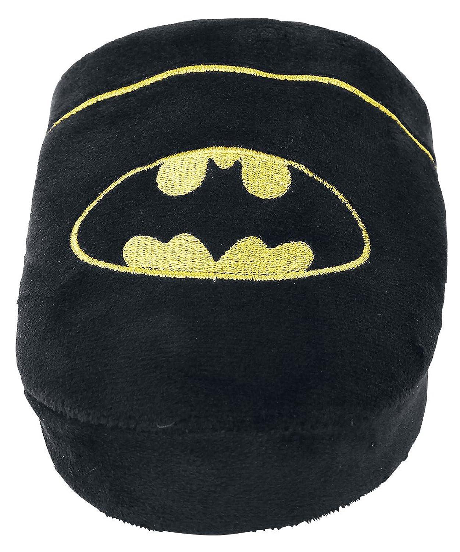 DC Comics - Batman Para Hombre Producto Oficial Suave Peluche Kids Slip On Zapatillas de Mule de Superhéroe, Color Negro, Talla 42 EU