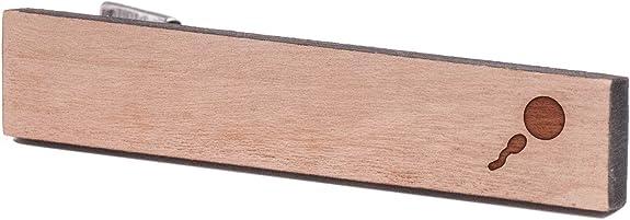 Esperma y de huevo, de madera de corbata Tie Bar: Amazon.es: Joyería