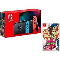 Nintendo Switch Rouge/Bleu Néon 32Go [nouveau modèle] + Pokémon Bouclier (Shield)
