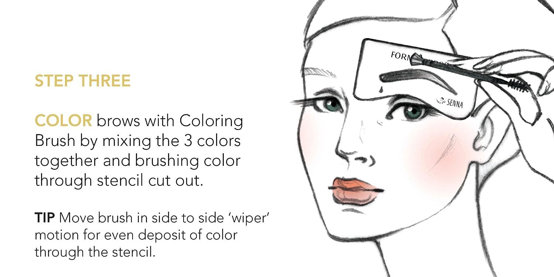 Amazon Senna Cosmetics Form A Brow Stencil Kit Neutral Beauty