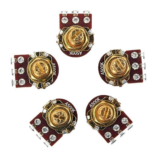 4 Stücke A500K B500K Gitarren Potentiometer mit 4 Stück Potiknopf