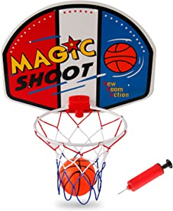 Liberty Imports Magic Shot Mini Basketball Hoop Set with Ball and Pump (Single)