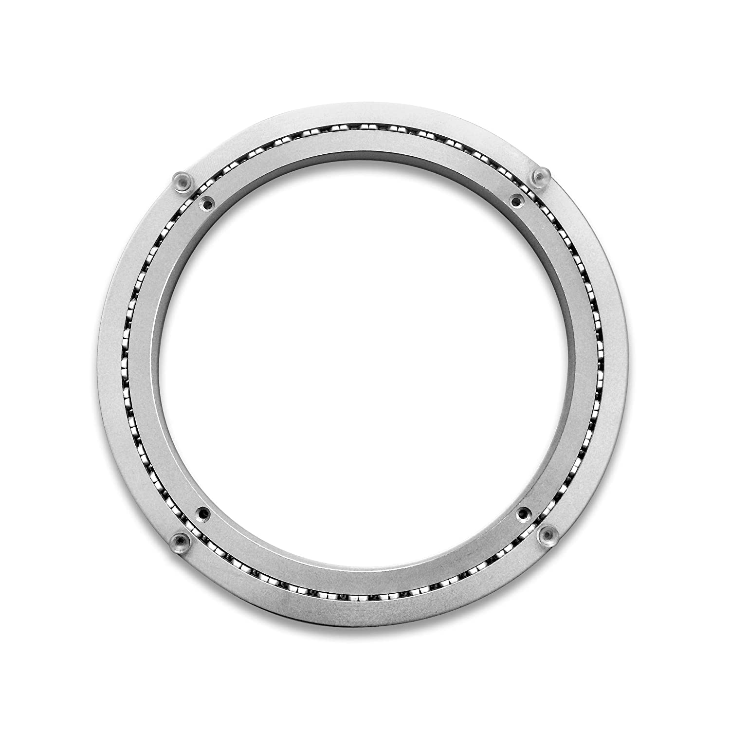 Heavy-Duty Aluminum Lazy Susan Ring/Turntable with Single-Row Ball Bearings for Heavy Loads, 12-Inch