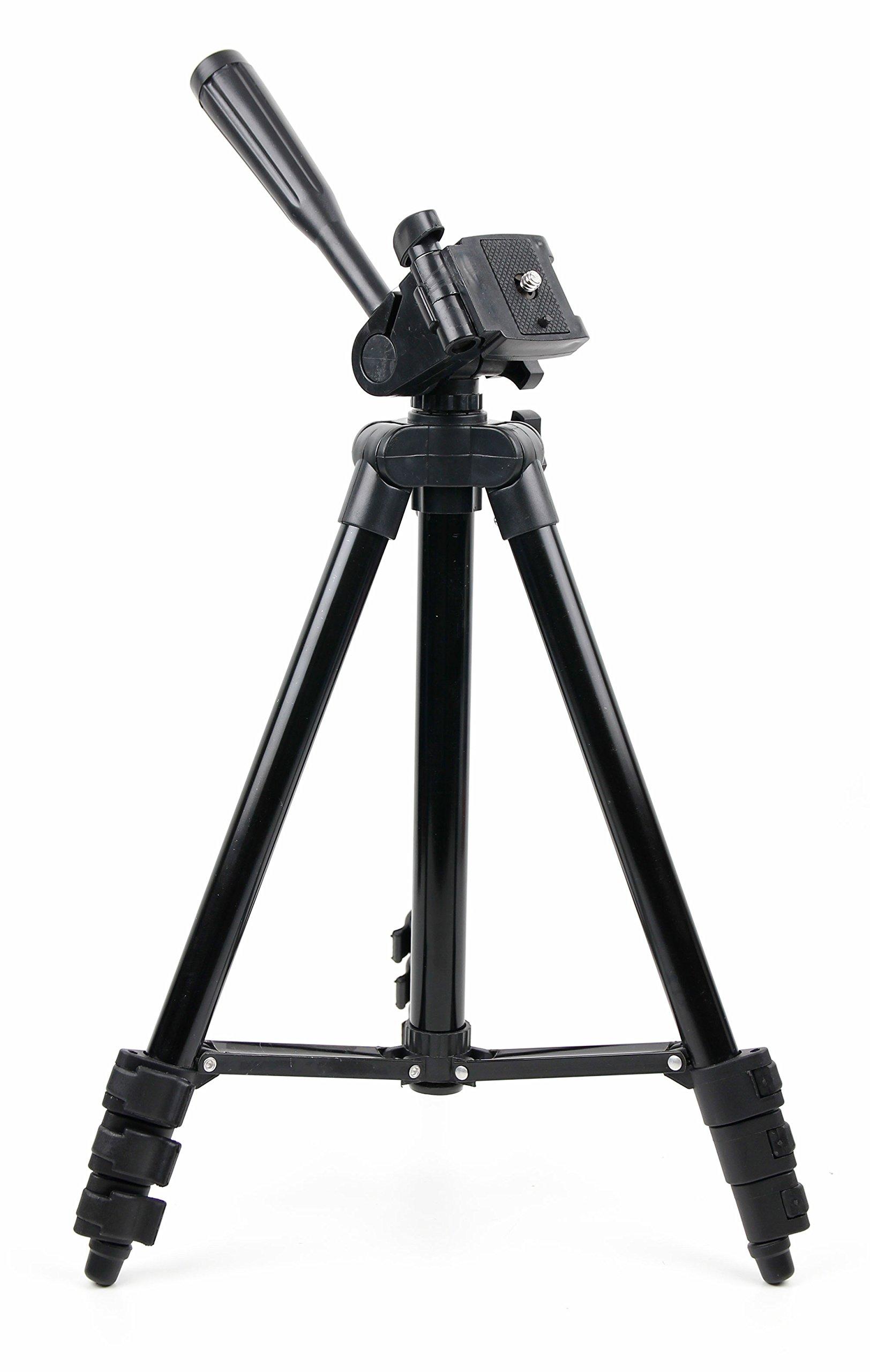 DURAGADGET 1M Extendable Portable Aluminium Tripod with Screw Mount for the Uvistar Wireless WiFi Home Cinema Multimedia Projector