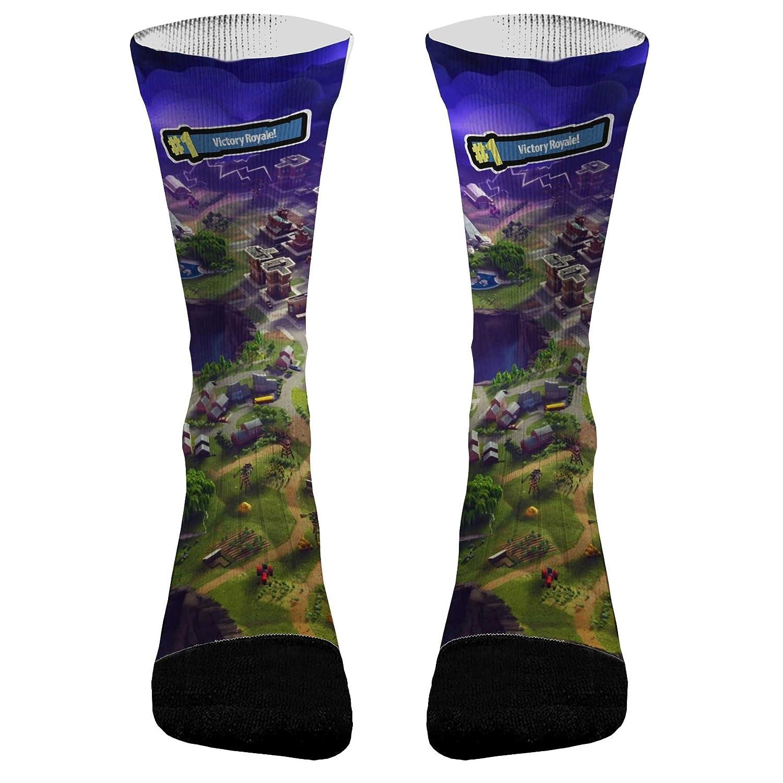 f7b0bdeef Amazon.com: Fortnite Athletic Compression Dri-Fit Socks: Clothing