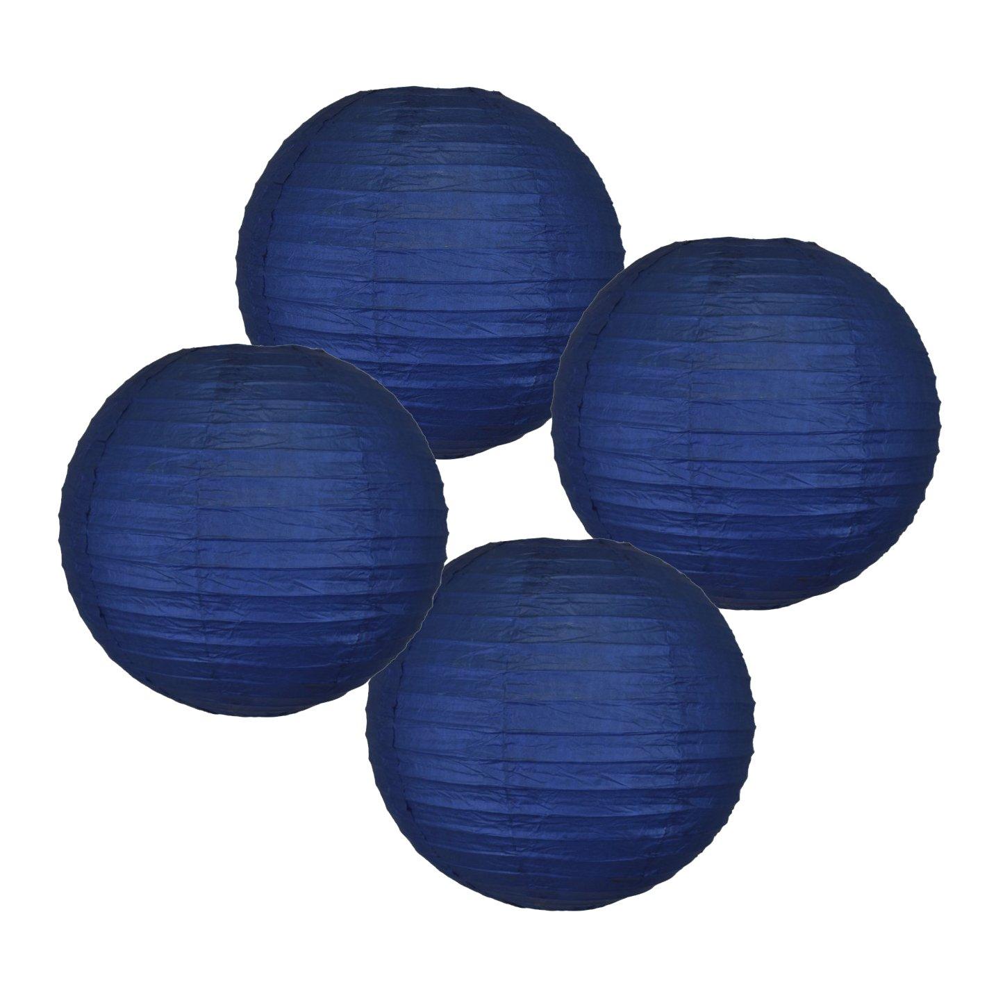 Just Artifacts 様々な紙製ランタン(色とサイズの異なる紙のランタン) 14inch AMZ-RPL4-140017 B01EGXK970 14inch|ネイビーブルー ネイビーブルー 14inch
