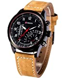 Rise N Shine Analogue Casual Curren Brown Belt Black Dial Watch For Mens And Boys - RISEWT035