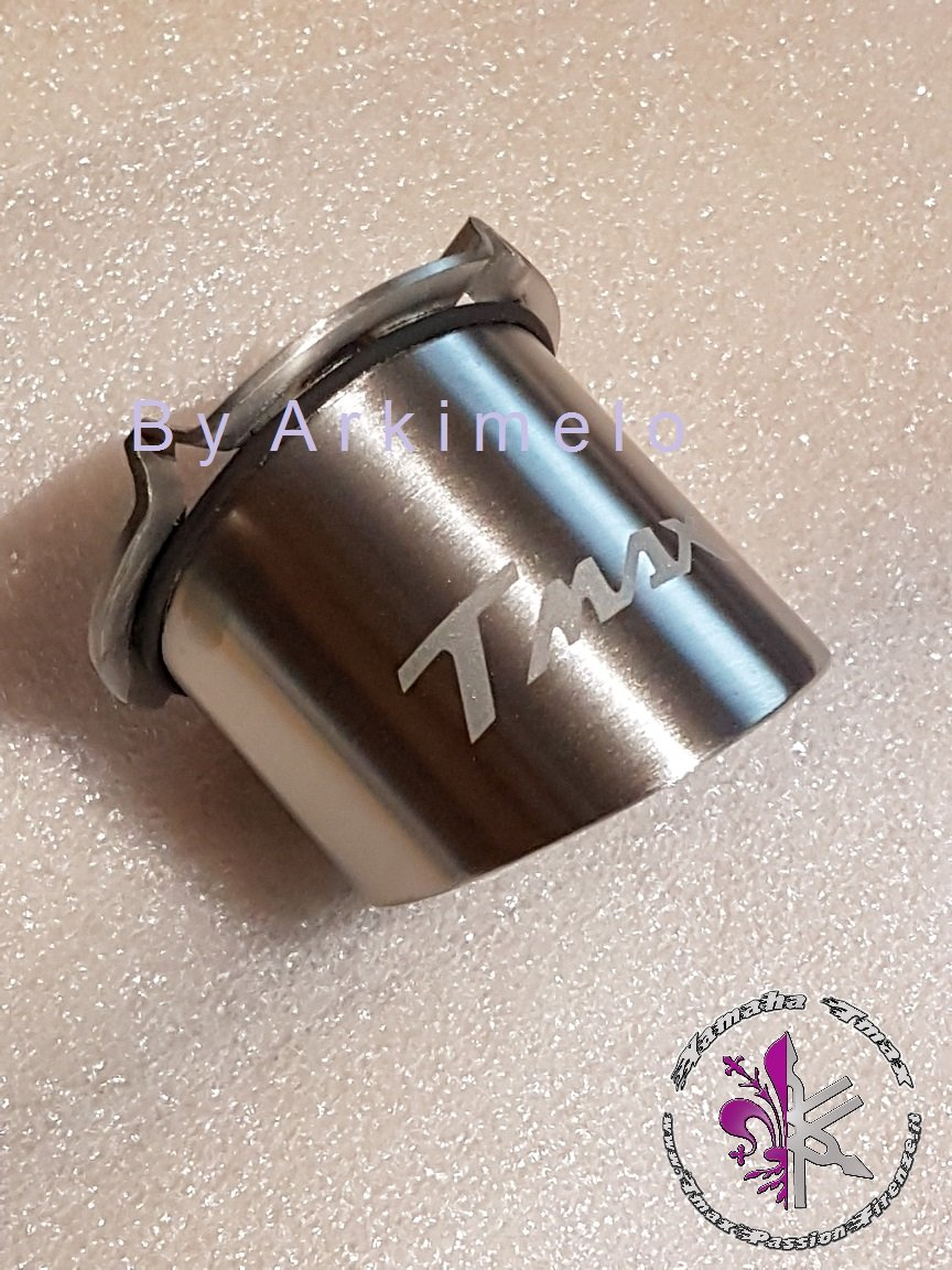 modelo Tag con grabado para Tmax del 2001 al 2011 Boquilla del tubo de escape de acero inoxidable