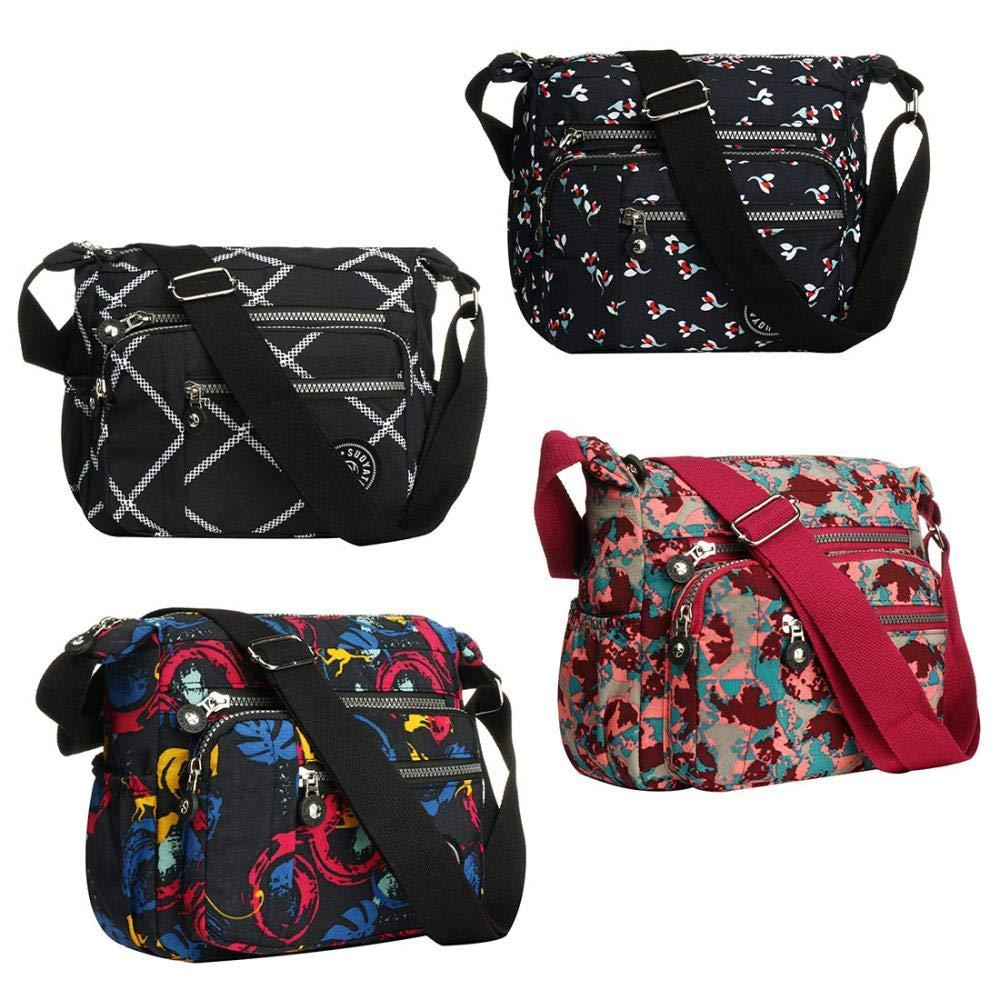 Dam Cross Body Väska Vardaglig Axelväska Handväska Multificka Messenger för Shopping Daglig användning Lila