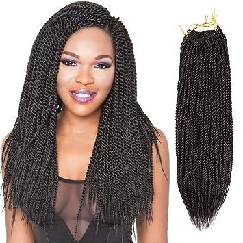 Amazon Com 8 Packs 20 Senegalese Twist Crochet Hair Braids Small