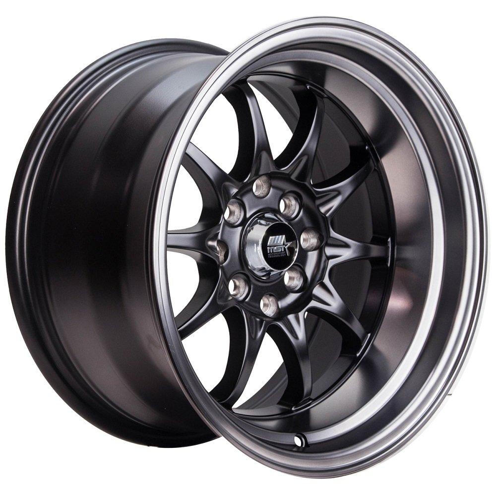 MST Wheels - MT11 15' Rim (Single Wheel) - 15x8.0 Matte Black w/Matte Black Lip (4x100/4x114.3, ET+0) Motor Sport Technology Wheels