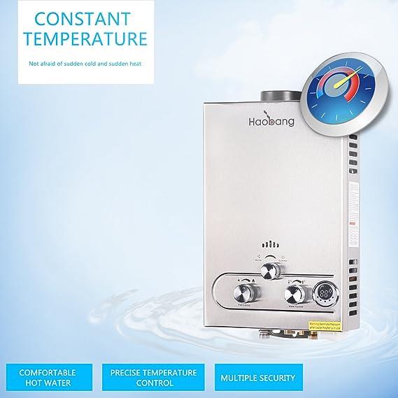 HB Sin tanque calentador de agua Gas patentado de modulación Tecnología JSD12-S02 (LPG) propano o butano: Amazon.es: Bricolaje y herramientas