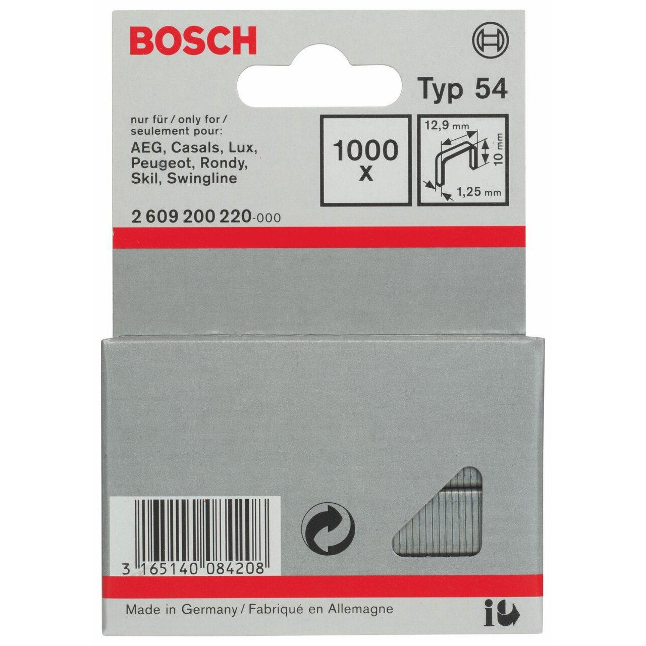 KG Bosch 2609200220 Fine Wire Staple 10x12 9mm 1000 Pcs C /& J Direct GmbH /& Co