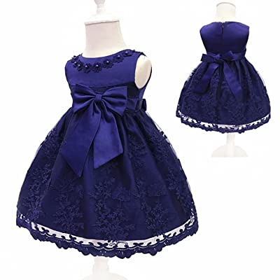 DFPOHN Baby Girls Dress for Girl Princess Party Dress Infant Christening Gown 1 Year Birthday Dress Christmas