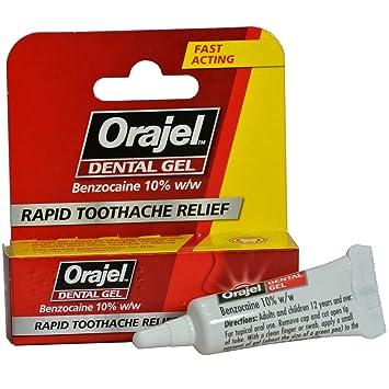 2 x Orajel Dental Gel Rapid Toothache Relief Benzocaine 10% w/w (2 Packs)