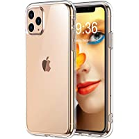 Bovon Coque pour iPhone 11 Pro Max, [Cristal Limpide] Ultra Mince Étui Absorption de Choc, Coque Anti-Rayures en Silicone TPU Compatible avec iPhone 11 Pro Max 6.5 Pouces (2019)