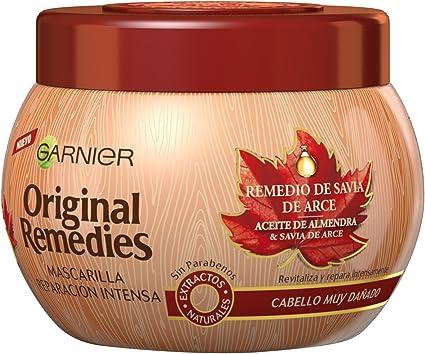 Garnier Original Remedies Remedio de Arce Mascarilla capilar para pelo muy dañado - 300 ml: Amazon.es: Belleza